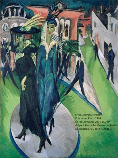 Ernst Ludwig Kirchner Potsdamer Platz, 1914 Öl auf Leinwand, 200 x 150 cm © bpk / Staatliche Museen zu Berlin, Nationalgalerie / Jörg P. Anders