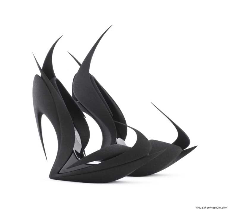 Flames | Zaha Hadid for United Nude | Limited edition of 50|  © United Nude and 3D Systems.