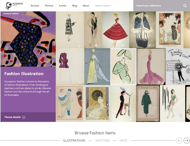 Screenshot: europeanaFASHION