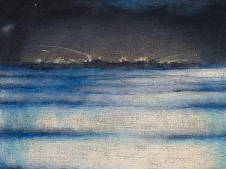 Leiko Ikemura, Pacific Ocean, 2005/06, Öl auf Jute, Foto: Jochen Littkemann, Berlin, courtesy the artist.