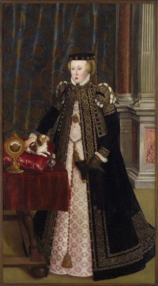 Hans Mielich: Portrait of Lady Anna von Bayern, daughter of Kind Ferdinands, 1556, oil on canvas, 211,5 x 115,5 cm, Kunsthistorisches Museum, Vienna