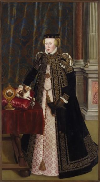 Hans Mielich: Portrait of Lady Anna von Bayern, daughter of Kind Ferdinands, 1556, oil on canvas, 211,5 x 115,5 cm, Kunsthistorisches Museum, Vienna