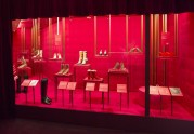 Installation view of Shoes: Pleisure and Pain, (c) V&A Museum, London
