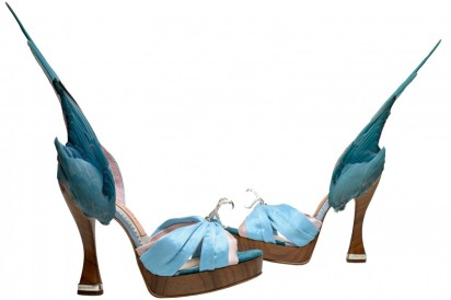 'Parakeet' shoes, Caroline Groves, England 2014, Photography by Dan Lowe