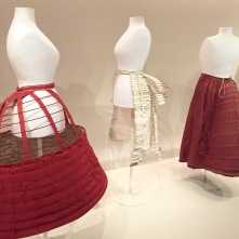 Red Crinoline Cage, White Bustle and Red Bustle