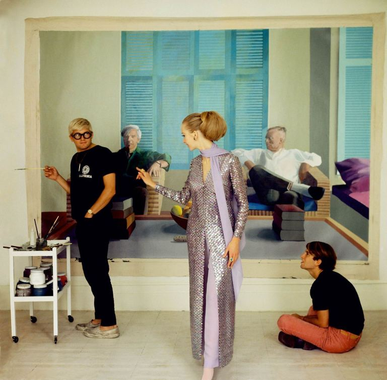David Hockney, Peter Schlesinger and Maudie James by Cecil Beaton, 1968 ©The Condé Nast Publications Ltd