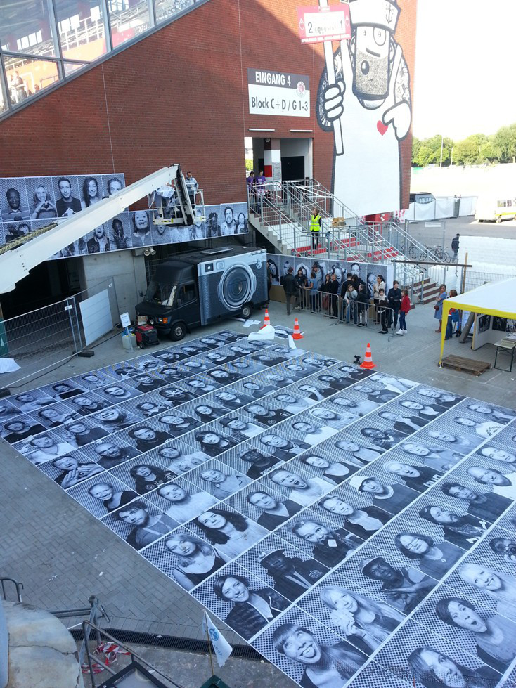 Pic intervention by JR in Hamburg at Millerntor Gallery  http://www.jr-art.net/
