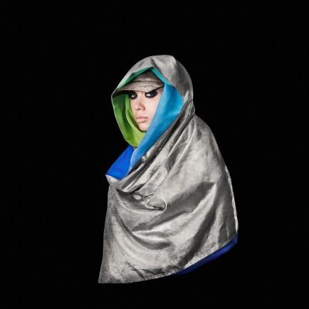 Adam Harvey Stealth Wear: 'Anti-Drone' Hijab, 2013 Nylon and Silk, © the artist/ ahprojects.com