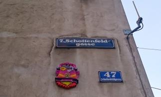 Streetart in Wien: Zipper die Rakete