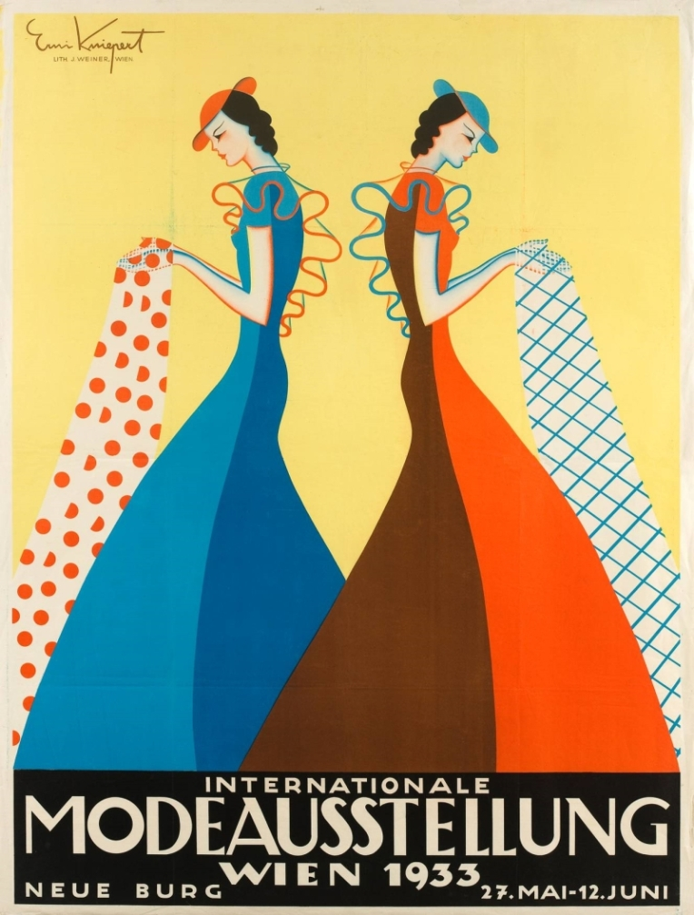 Erni Kniepert, Plakat für die Internationale Modeausstellung Wien 1933, Wien, 1933. Lithografie © MAK