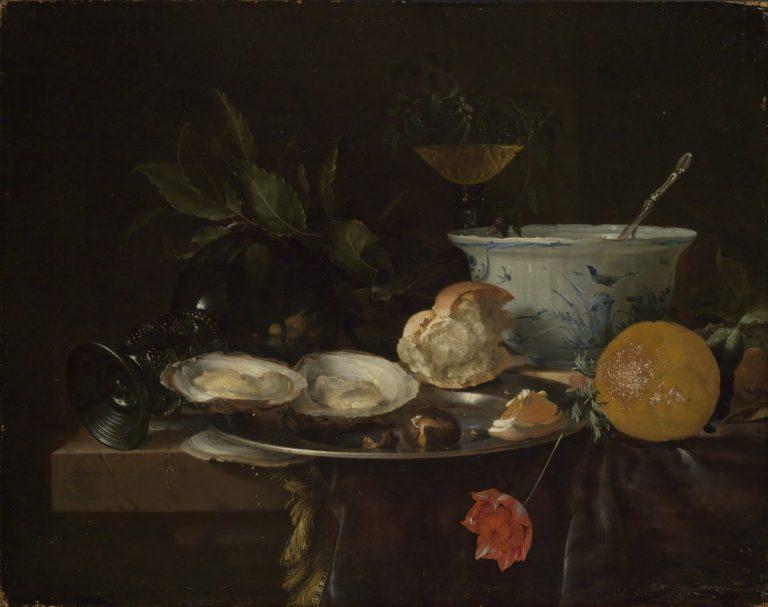 Jan Davidsz. de Heem 1606 - 1684, Frühstücksstillleben, Inv. 363, Kunsthalle Karlsruhe