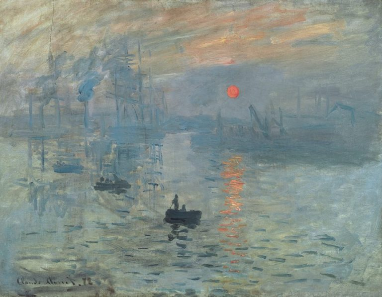 Impression, soleil levant, 1872; the painting that gave its name to the style. Musée Marmottan Monet, Paris