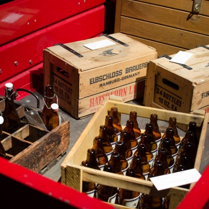 Old crates of beer