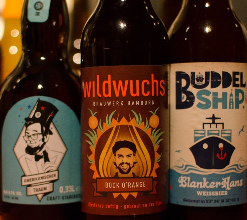 Selection of local craft beers