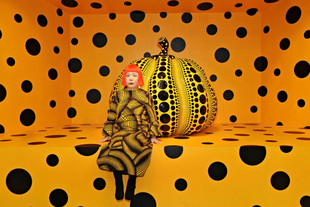 Kusama with Pumpkin Yayoi Kusama, Kusama with Pumpkin, 2010 © Yayoi Kusama Installation View: Aichi Triennale 2010. Courtesy Ota Fine Arts, Tokyo/ Singapore; Victoria Miro Gallery, London; David Zwirner, New York; and KUSAMA Enterprise