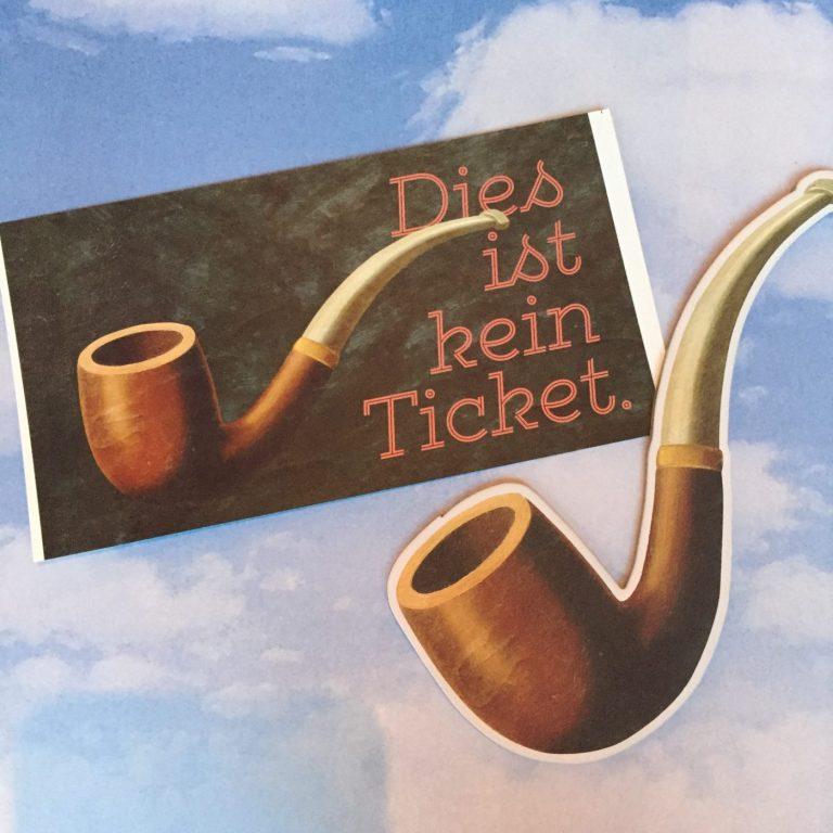 René Magritte Ticket
