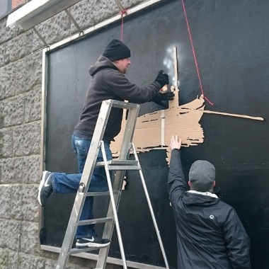Rene Scheer at work #fischerfüraltona