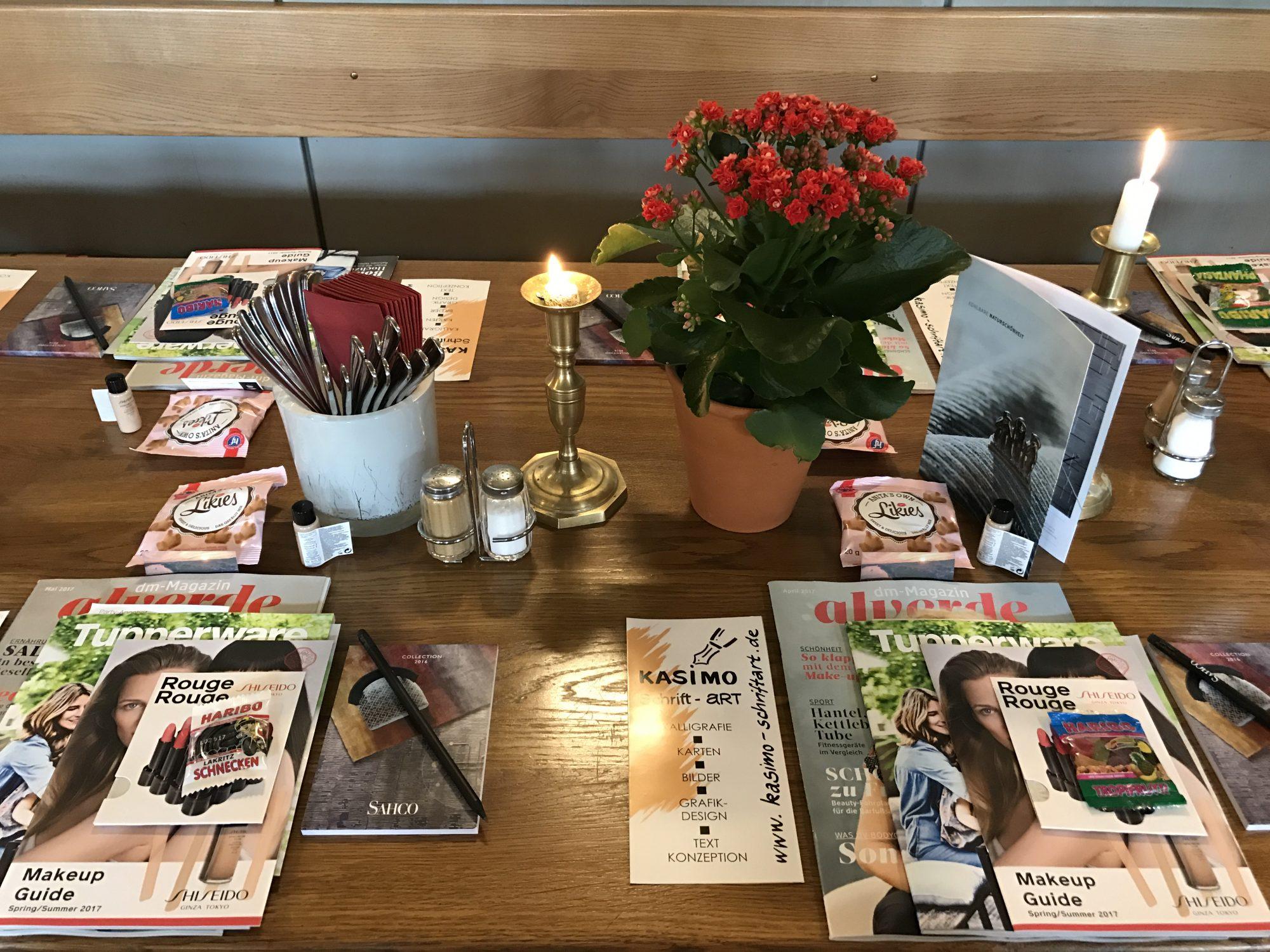Gedeckter Tisch, Bloggertreffen WIesbaden
