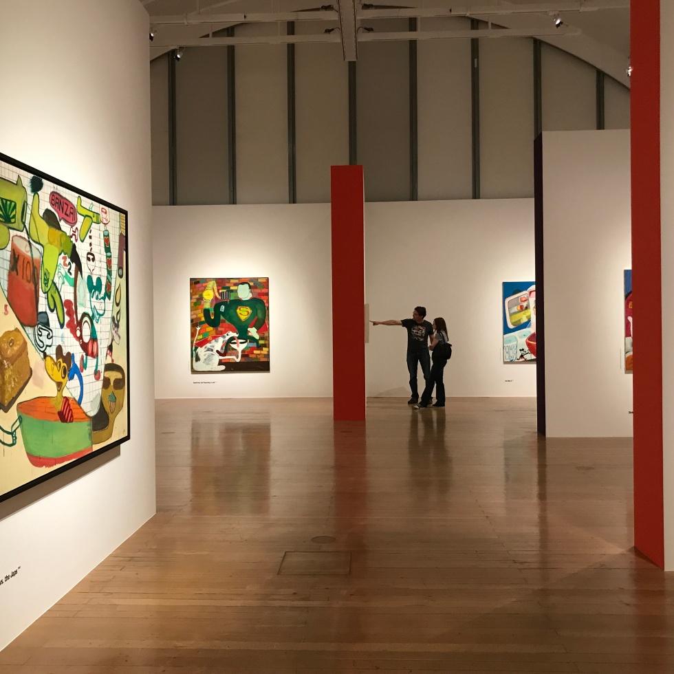 Peter Saul Ausstellungsansicht