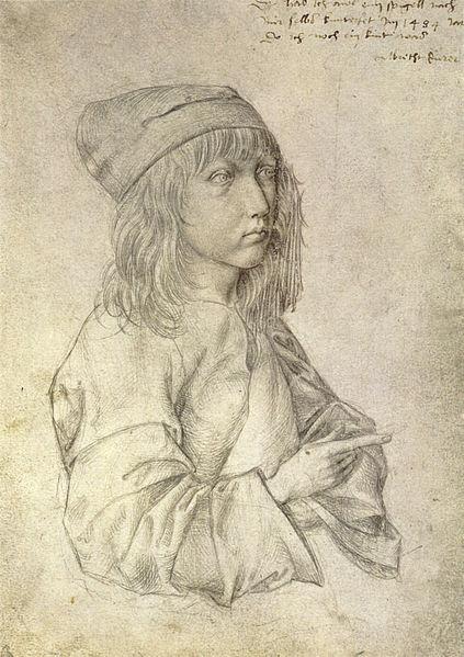 Selbstbildnis des Dreizehnjährigen, Silberstift auf weiß grundiertem Papier (1484), ältestes erhaltenes Selbstporträt Albrecht Dürers, Albertina, Wien